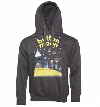 Charcoal Button Moon Family Hoodie