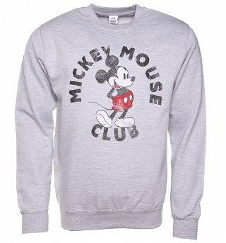 Grey Marl Disney Mickey Mouse Club Sweater