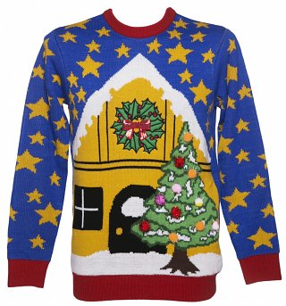 Unisex Light Up Christmas Scene Christmas Jumper