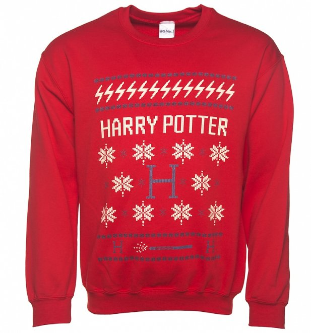 Red Harry Potter Fairisle Christmas Sweater