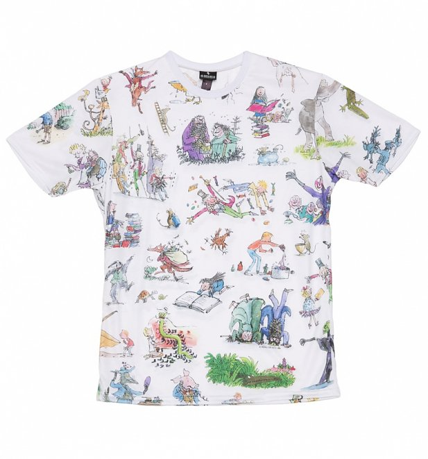 Roald Dahl All Over Print T-Shirt