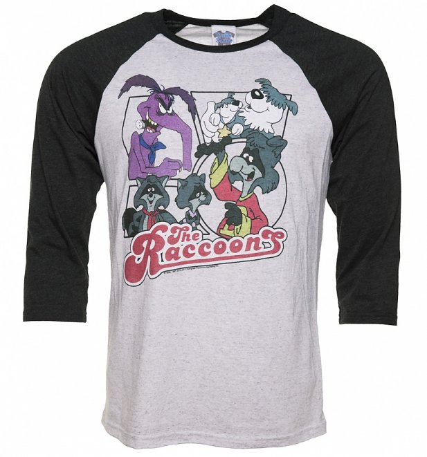 The Raccoons Comic Strip Raglan Baseball T-Shirt