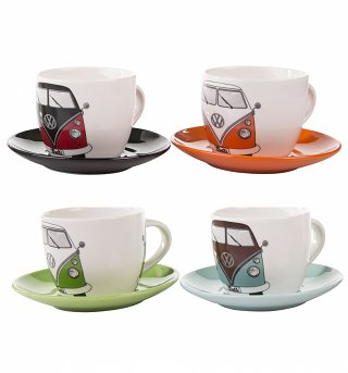 VW Collection By Brisa Boxed Set of 4 Espresso Cups