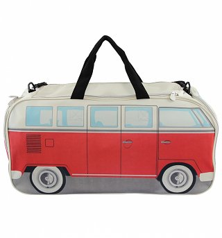 VW Collection By Brisa Red Campervan Gym Bag