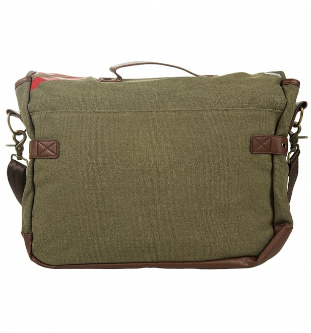 Vintage Canvas Captain America Army Messenger Bag