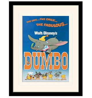 Vintage Dumbo Mounted And Framed Print 30cm x 40cm