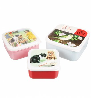 Vintage Ladybird Set Of Three Nested Lunch Boxes