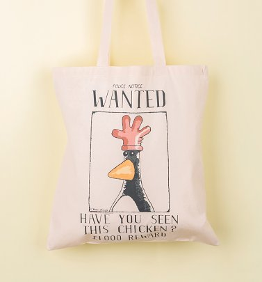 Wallace And Gromit Feathers McGraw Wanted Poster Tote Bag
