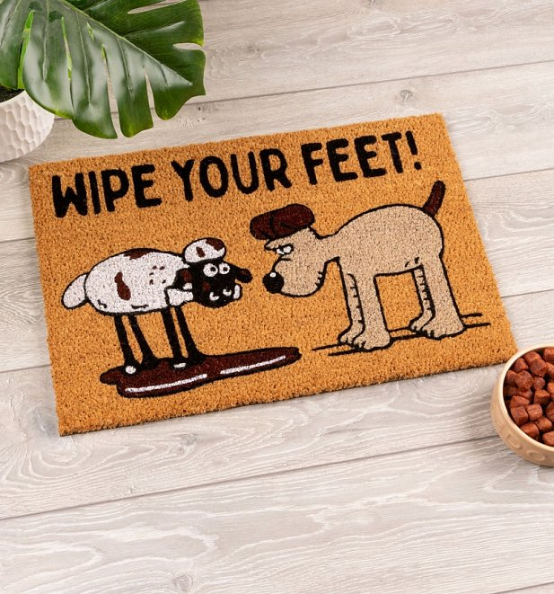 Wallace and Gromit Wipe Your Feet Door Mat