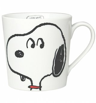 White Contemporary Snoopy Mug