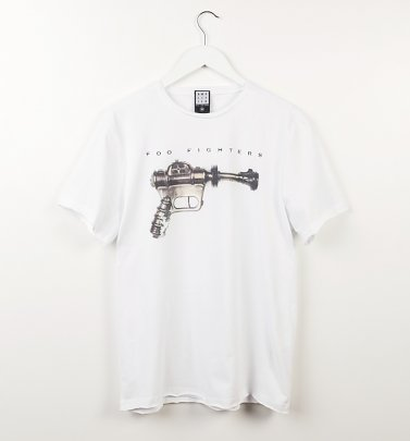 White Foo Fighters Ray Gun T-Shirt from Amplified