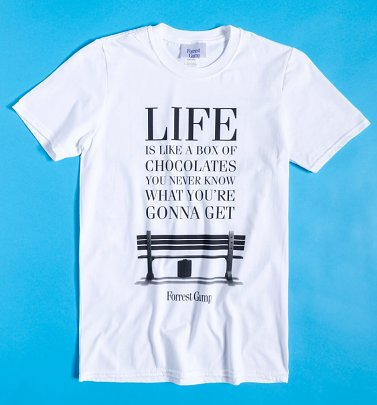 White Forrest Gump Life Is Like T-Shirt