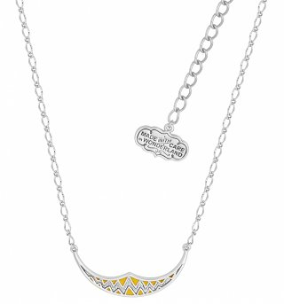 White Gold Plated Alice In Wonderland Cheshire Cat Smile Necklace from Disney Couture