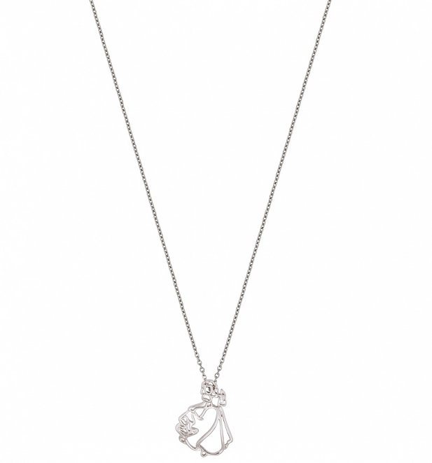White Gold Plated Snow White Outline Necklace from Disney Couture