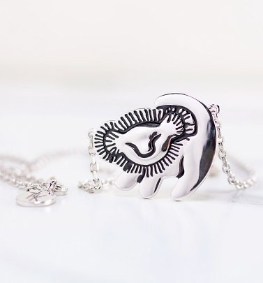 White Gold Plated Disney The Lion King Simba Necklace from Disney by Couture Kingdom