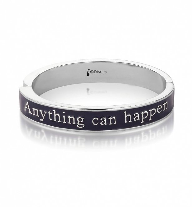 White Gold Plated Mary Poppins Anything Can Happen Bangle from Disney by Couture Kingdom