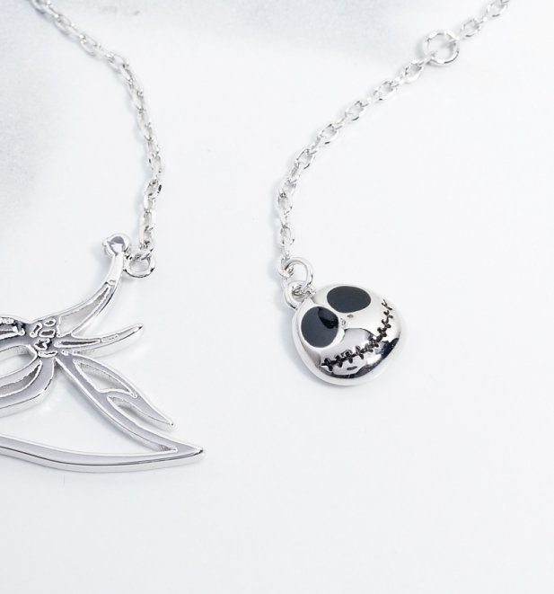 White Gold Plated The Nightmare Before Christmas Zero Necklace