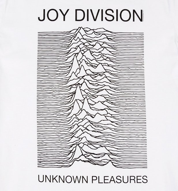 White Joy Division Unknown Pleasures T-Shirt from Amplified