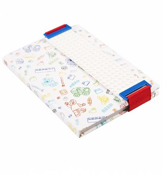 White LEGO Notebook With Building Band