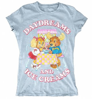 Women's The Get Along Gang Daydreams And Ice Creams Light Blue T-Shirt