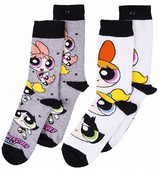 Women's 2pk Powerpuff Girls Socks