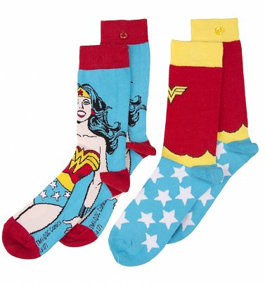 Women's 2pk Retro Wonder Woman Socks