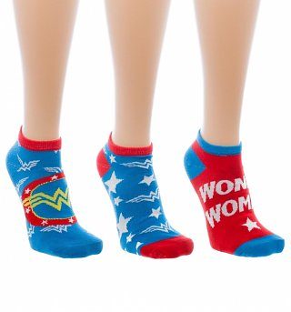 Women's 3 Pack Wonder Woman Trainer Socks