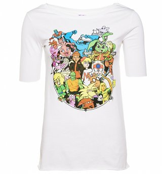 Women's 90s Cartoons Collection Scoop Neck T-Shirt
