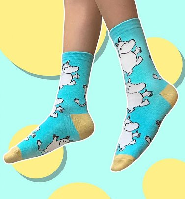 Women's Aqua Moomin Happy Socks