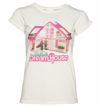 Women's Barbie Dream House Rolled Sleeve Boyfriend T-Shirt