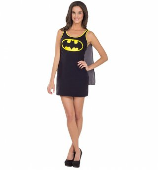 Women's Batgirl Dress With Cape Fancy Dress Costume