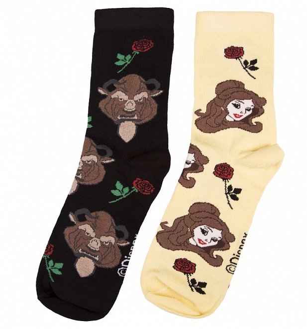 Women's Beauty And The Beast Socks from Local Heroes