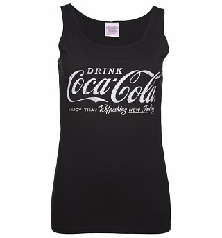 Women's Black Drink Coca-Cola Logo Vest