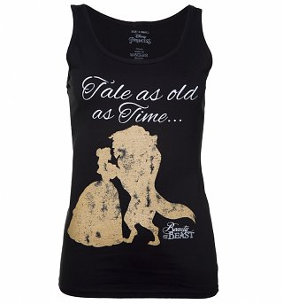 Women's Black Disney Beauty And The Beast Tale As Old As Time Vest