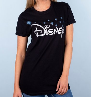 Women's Black Disney Logo T-Shirt
