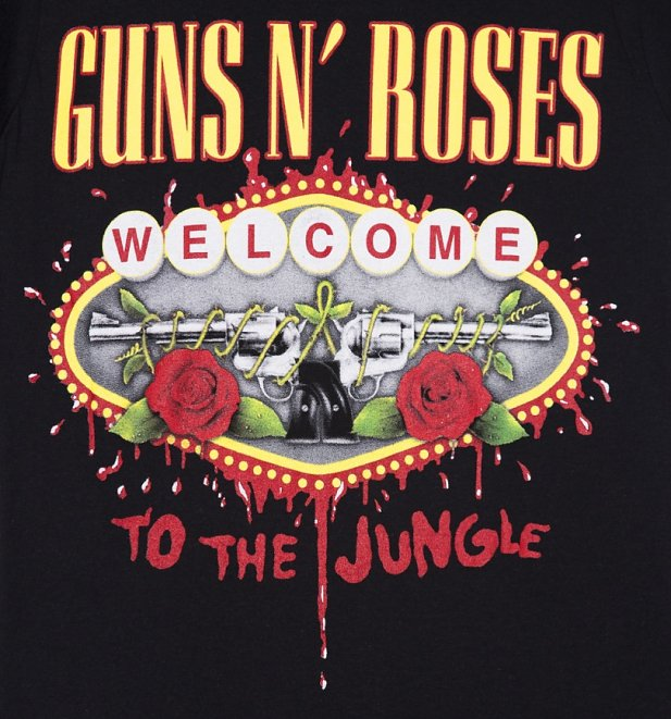 Women's Black Guns N Roses Welcome To The Jungle T-Shirt
