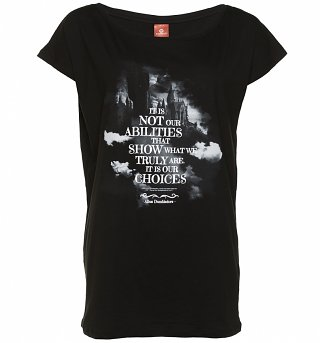 Women's Black Harry Potter Choices Quote Slouchy T-Shirt