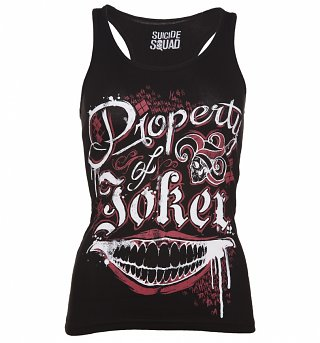 Women's Black Property Of The Joker Suicide Squad Vest
