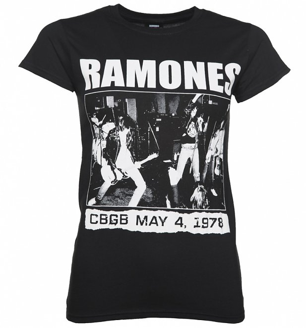 Women's Black Ramones CBGB 1978 T-Shirt