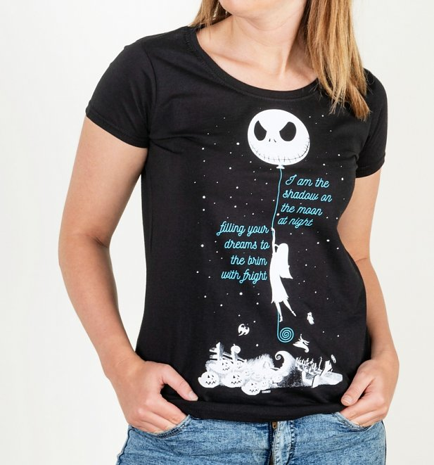 Cool Nightmare Before Christmas Gifts: Women's Black Shadow On The Moon Nightmare Before