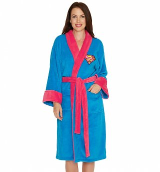 Women's Blue DC Comics Supergirl Dressing Gown