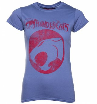 Women's Blue Thundercats Logo T-Shirt