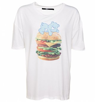 Women's Care Bears Burger Bear Oversized T-Shirt from Iron Fist