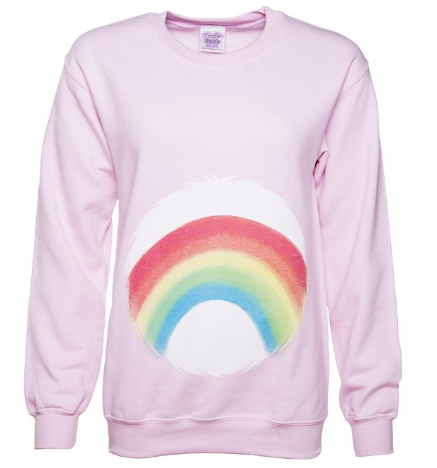 Women's Care Bears Cheer Bear Belly Badge Sweater
