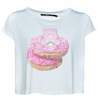 Women's Care Bears Donut Bear Cropped Slouch T-Shirt from Iron Fist