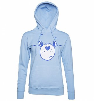Women's Care Bears Grumpy Bear Face Hoodie