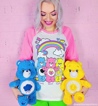 Women's Care Bears Hearts and Tea Cups Baseball T-Shirt