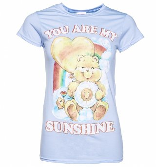 Women's Care Bears You Are My Sunshine Light Blue T-Shirt