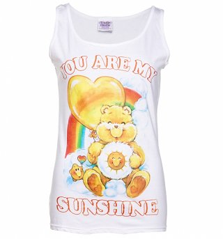 Women's Care Bears You Are My Sunshine White Vest