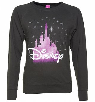 Women's Charcoal Disney Castle Sweater